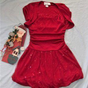 💝4/$15 girls size 6  dress shirt christmas top
